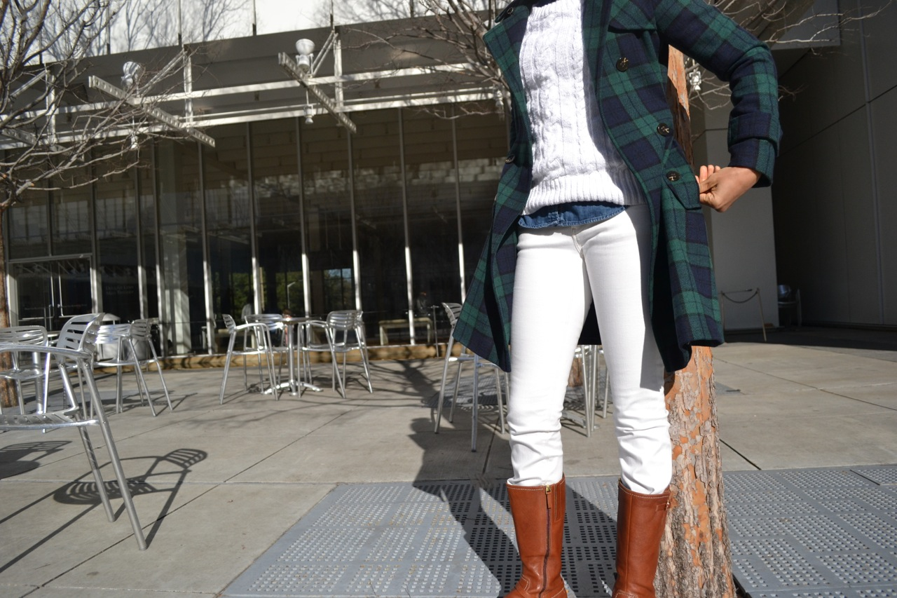 Denim, White, and Plaid 1