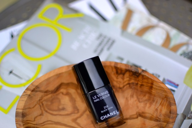 Chanel Nail Color: Black Satin
