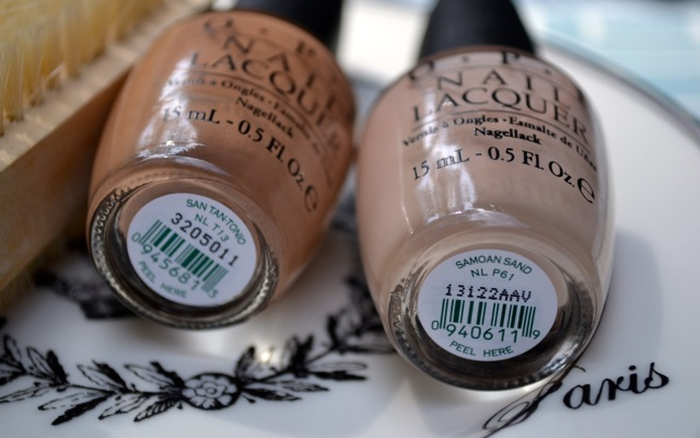 OPI San Tan-Tonio and Samoan Sand