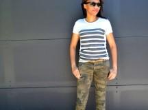 Stripe Tee and Camo Pants