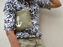 Snow Cat Print, Olive, and Just One Anchor :-)