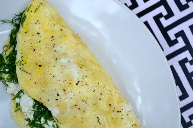Recipe: Goat Cheese and Dill Omelette