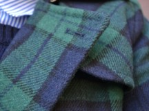 Navy and Green: Plaid and Stripes
