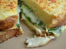 Sandwiches: Turkey, Spinach, & Gruyere and Ham & Gruyere