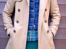 Camel, Denim, and Plaid