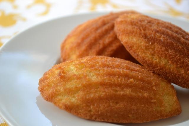 Lemon Vanilla Madeleines (Petite French Cakes)