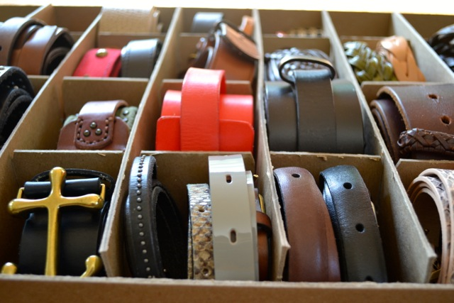 Belt Organization and Storage