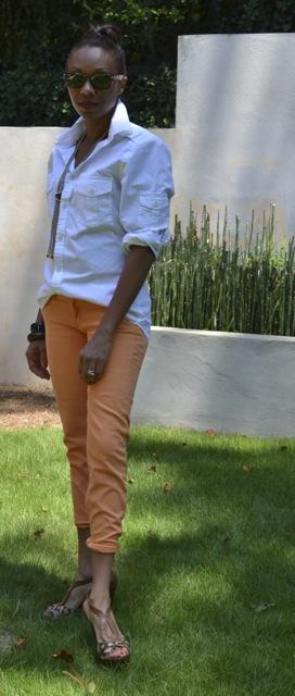 2 Ways to Wear Orange Jeans: Look 2(b)