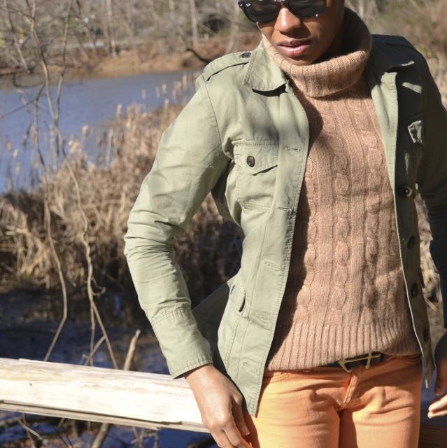 2 Ways to Wear Orange Jeans: Look 1(c