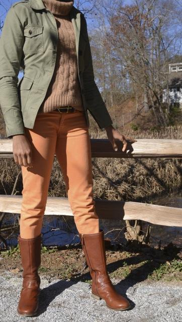 2 Ways to Wear Orange Jeans: Look 1(b)