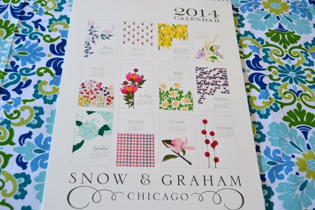 2014 Snow & Graham Calendar