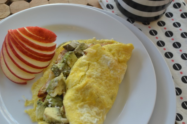 Chicken and Avocado Omelet