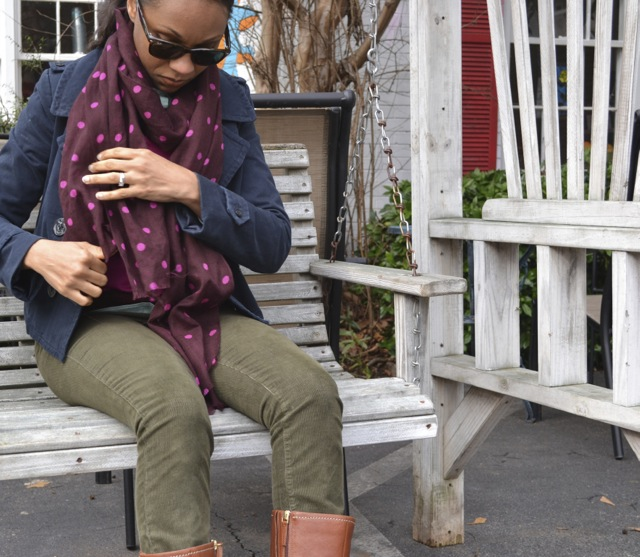 Olive, Pink, and Burgundy: Look 2(b)