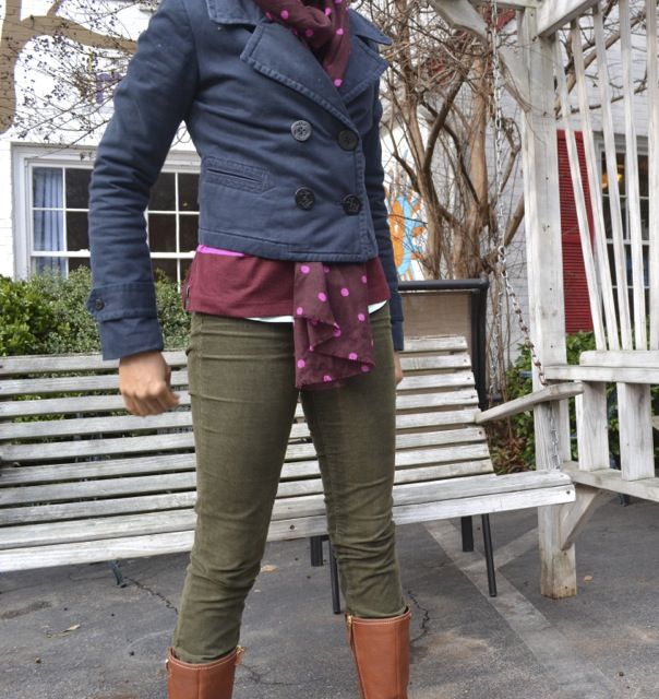 Olive, Pink, and Burgundy: Look 2(c)