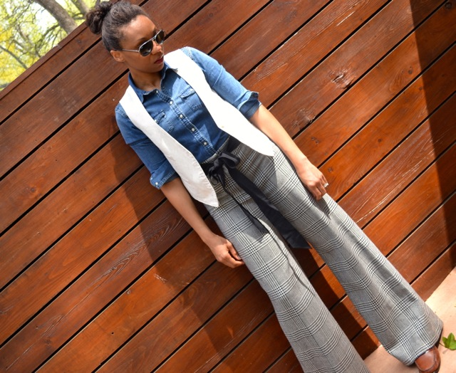 Layers: Denim Shirt + Vest 2