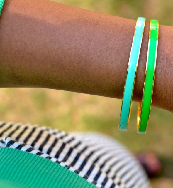 Mint & Green Bangles