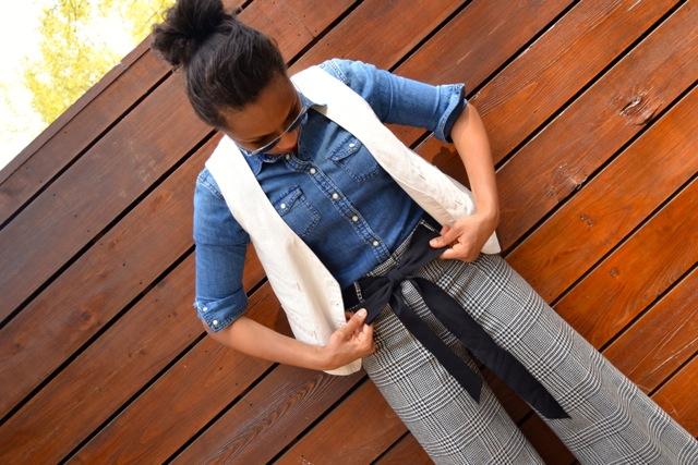 Layers: Denim Shirt + Vest