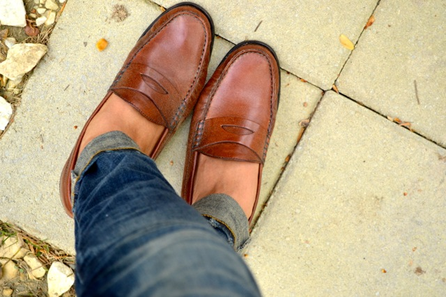 Cuffed Jeans + Loafers