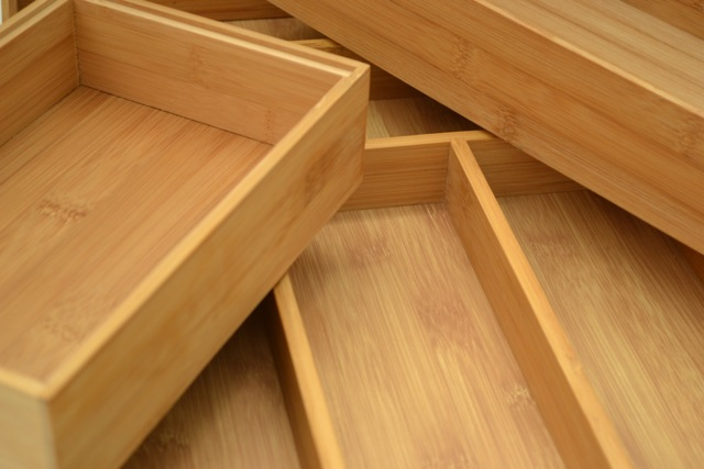 Bamboo Trays = Perfect Drawer Organizers