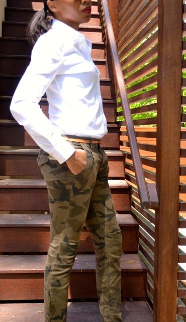 Camo Pants + White Shirt 2