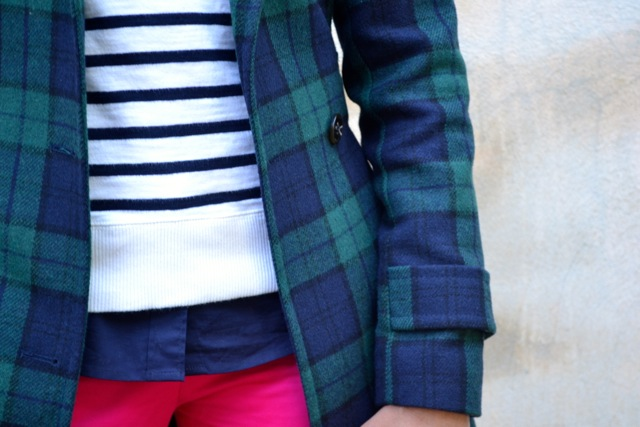 Stripes + Plaid + Hot Pink
