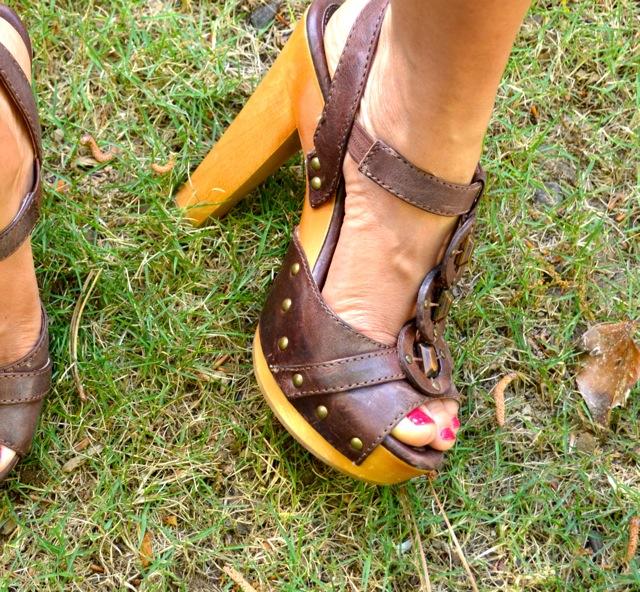 Frye Wood Heel Sandals