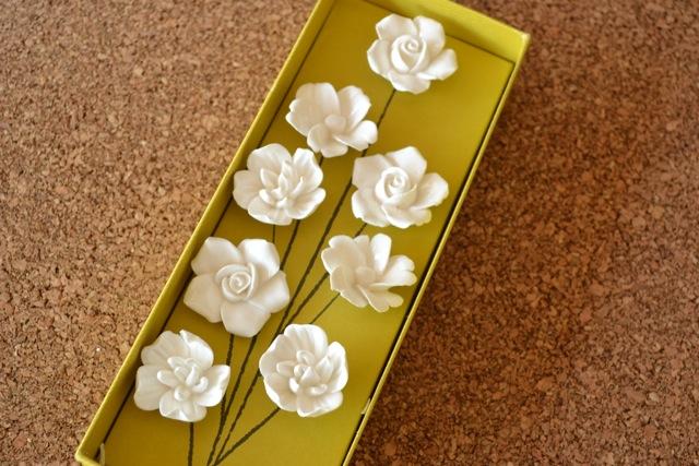 Ceramic Flower Push Pins
