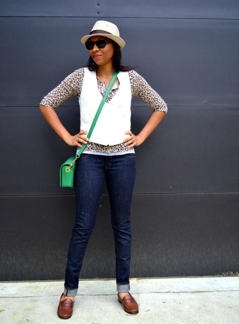 Leopard Print Cardigan + Vest 2