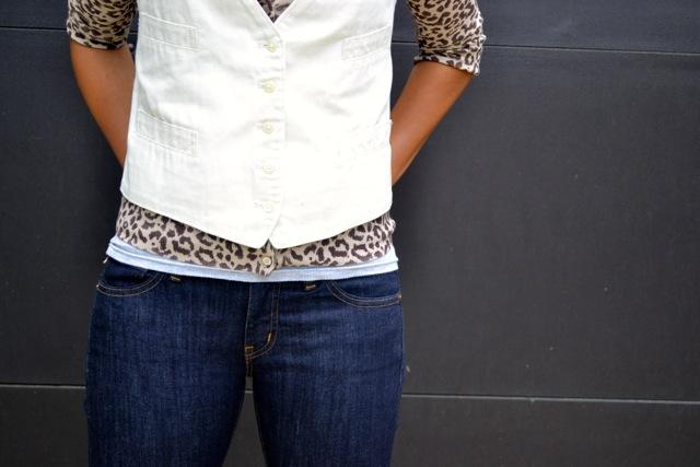 Leopard Print Cardigan + Vest