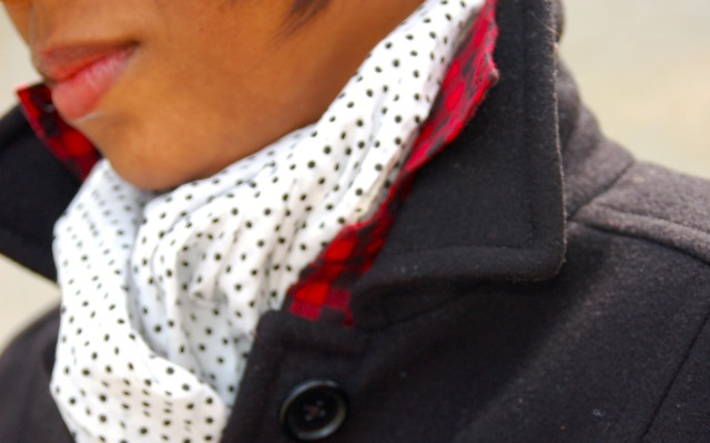 Buffalo Check Shirt + Dot Scarf
