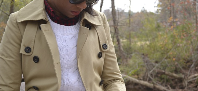 Buffalo Check Shirt + Sweater + Trench