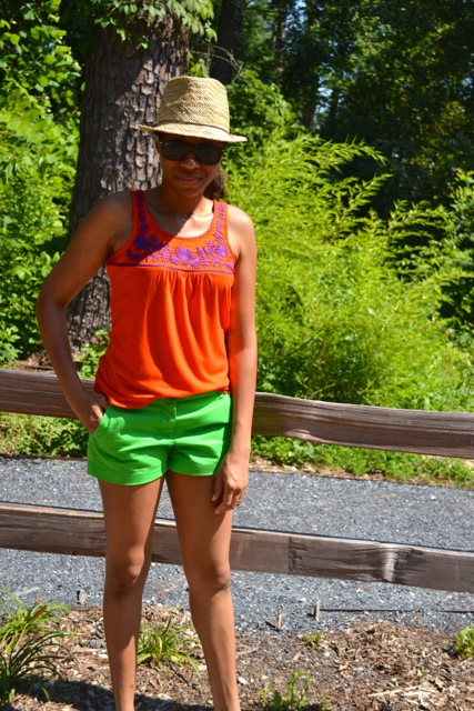 Embroidered Tank + Shorts 2