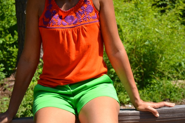Embroidered Tank + Shorts