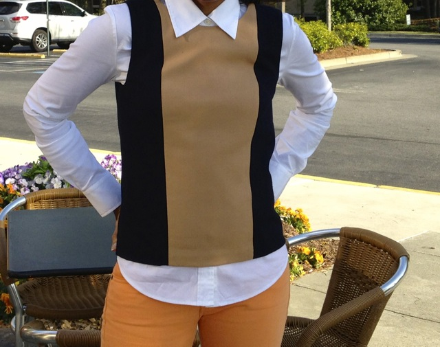 Pairings: Colorblock Shell + Button Down