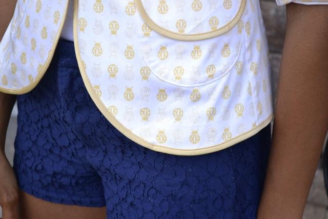 Ladybug Print Blazer + Lace Shorts