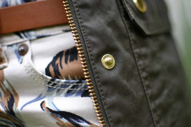 Palm, Stripes, and a Field Jacket