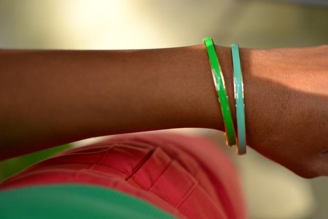 Bracelets: Shades of Green