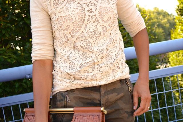 Camo Pants + Lace Sweatshirt 3
