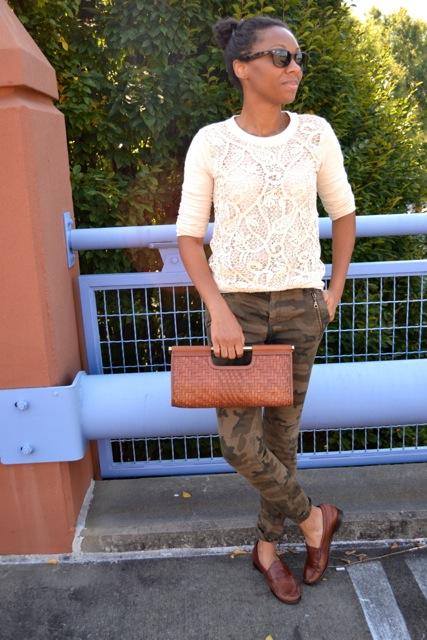 Camo Pants + Lace Sweatshirt 2