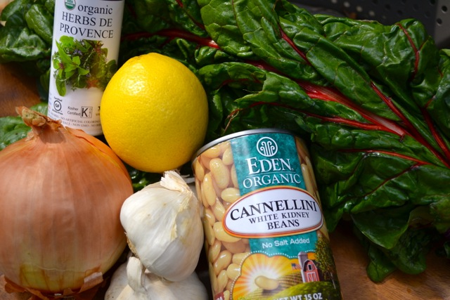 Ingredients: Pan Seared White Beans with Chard and Onions