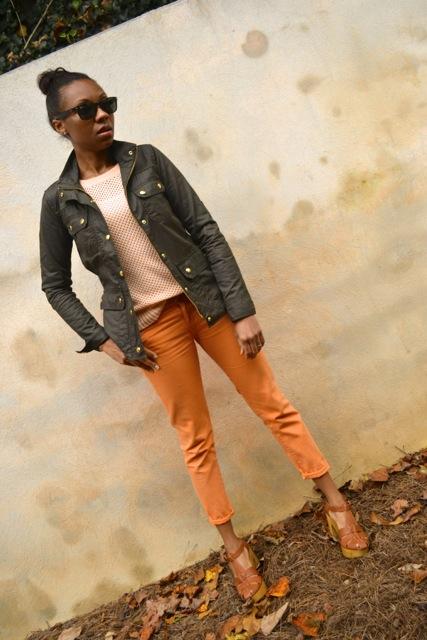 Jeans + Open Knit Sweater + Jacket 3