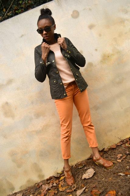 Jeans + Open Knit Sweater + Jacket 2