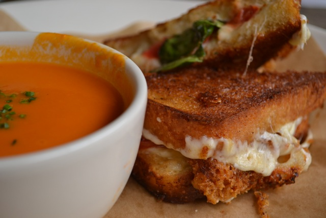 """Grown Up"" Grilled Cheese Sandwich with Tomato Soup"