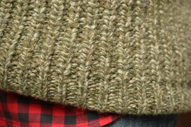 Buffalo Check Shirt + Heather Olive Sweater 2