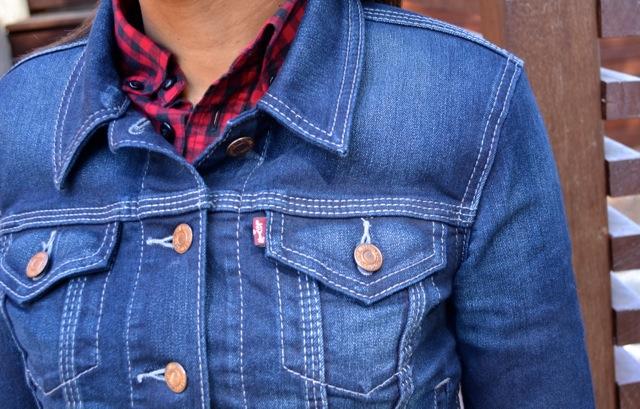 Buffalo Check Shirt + Denim Jacket