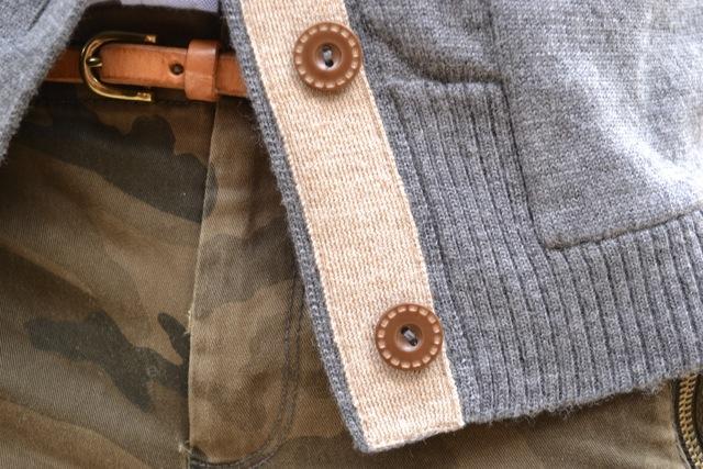 Camo Pants + Button Down Shirt + Cardigan 4
