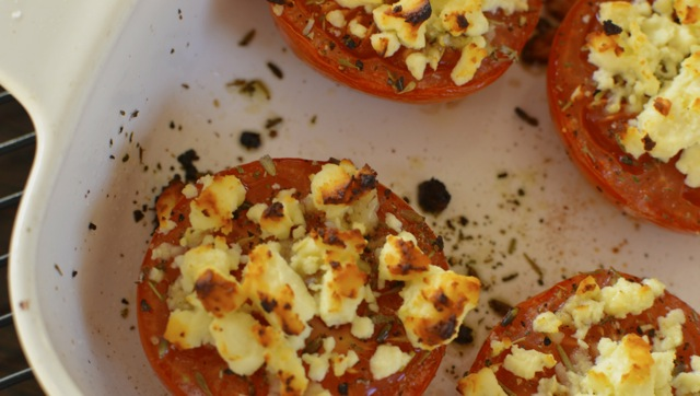Baked Tomatoes with Feta