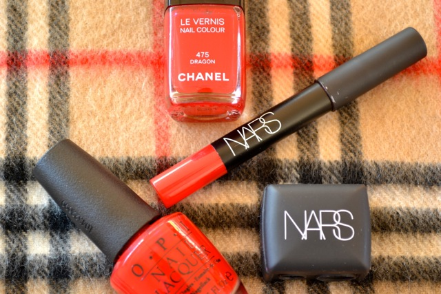 Chanel & OPI Red Nail Polish and Nars Red Matte Lip Pencil