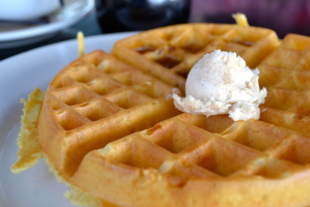 Belgian Waffle with Spiced Honey Butter