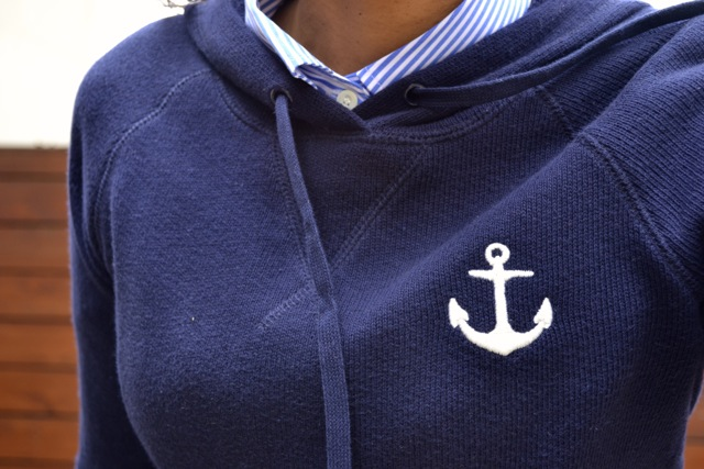 Navy and Olive: Stripes and Anchors